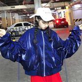 嘻哈棒球服女冬秋韓版學生寬鬆bf港風蝙蝠袖帥氣夾克怪味少女外套