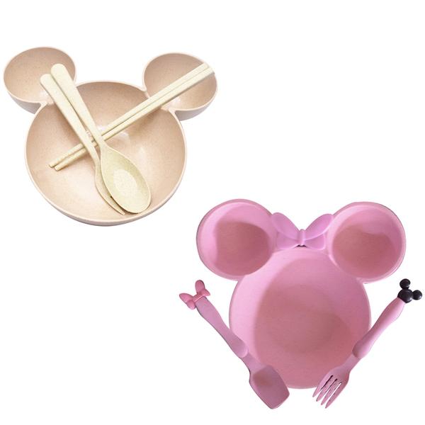 北歐 餐具  大耳朵造型盤子 兒童盤子 環保餐具 分隔盤 餐具 午餐盤 88253