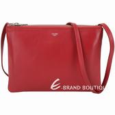 CELINE TRIO 大款 平滑小羊皮斜背包(紅色) 1930051-54