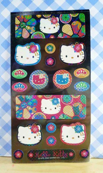 【震撼精品百貨】Hello Kitty 凱蒂貓~KITTY貼紙-和風黑