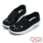 搖搖鞋 趣味貓咪鑽飾氣墊搖搖鞋(黑)*0101shoes【18-619bk】【現+預】