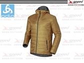 【速捷戶外】《ODLO》525162 PRIMALOFT 男長效保暖防風防潑水保暖外套(深卡其) -雙面可穿 隨意變色