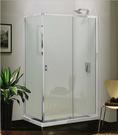 【麗室衛浴】美國KOHLER  Stance®系列 K-37464T-L-SHP L型 兩固一活三片式 140+轉角固定片100*H190CM