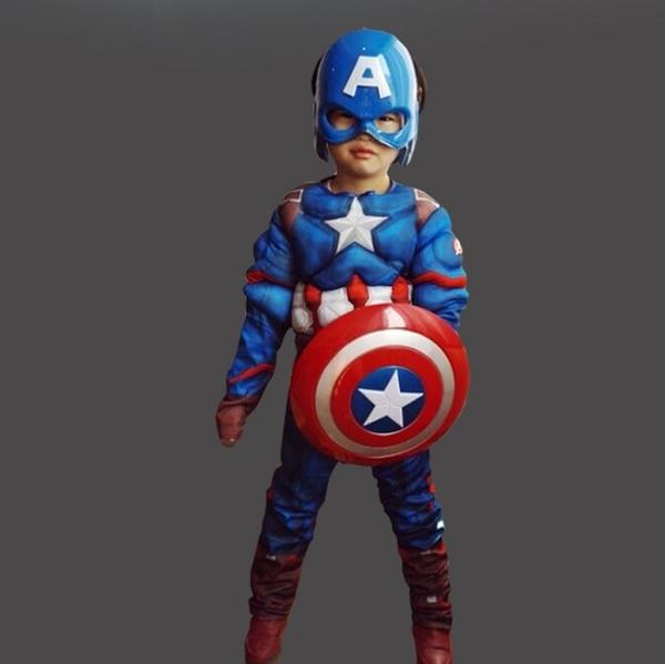 衣童趣(•‿•)美國隊長 帥氣超人 扮演服裝 萬聖節表演必備 肌肉裝 英雄造型舞衣 贈面罩 現貨