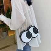 小圓包包包女包新款2020網紅同款夏春款可愛少女潮斜背鏈條小圓包眼睛包 JUST M