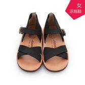 【A.MOUR 經典手工鞋】手工涼拖鞋 - 黑 / 厚底鞋 / 涼拖鞋 / 進口小牛皮 / DH-8300