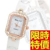陶瓷錶-簡約高貴耀眼女腕錶2色55j29[時尚巴黎]