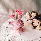水果叉 叉子 TOOKI & CO【Z433231】歐風田園風花瓶玫瑰花造型水果叉/叉子/婚嫁禮物/婚禮小物-Rise