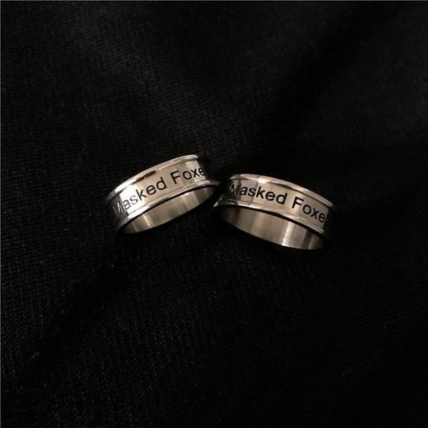 【新飾界】戒指:MASKED FOXES鈦鋼指環男女