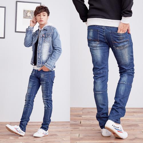 個性車縫造型牛仔褲
