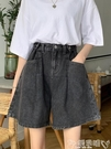 短褲夏季2021新款五分直筒寬鬆褲子薄款闊腿短褲高腰顯瘦百搭牛仔褲女嬡孕哺