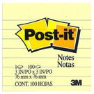 3M 思高牌 利貼可再貼便條紙 630 100張 75x75 黃 橫格