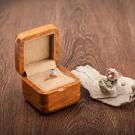 夭桃飾品花梨木紫檀純實木求婚戒指盒鑽戒盒耳釘盒袖扣盒