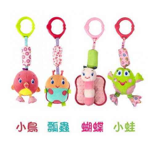 【奇買親子購物網】KidsII 好朋友懸吊玩具-粉紅陽光(小鳥/瓢蟲/蝴蝶/小蛙)