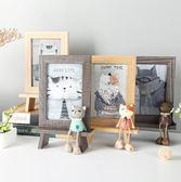 創意相框個性複古木質6寸擺台可愛ins相架擺件鐵藝畫框水培簡約