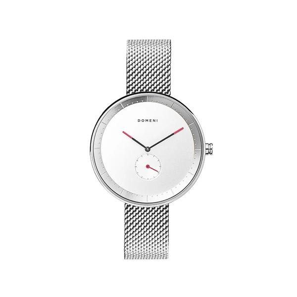DOMENI COMPANY 316L不鏽鋼時尚銀腕錶 經典米蘭錶帶 雙色指針 (32mm/SSM01-32)