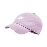 Nike 帽子 NSW H86 Cap Futura Washed 紫 白 男女款 老帽 純棉 棒球帽 穿搭 素面 水洗 【ACS】 913011-576