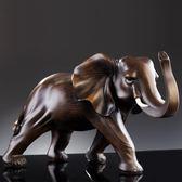 招財大象擺件一對工藝品喬遷開業禮品辦公室桌客廳酒柜家居裝飾品【一條街】