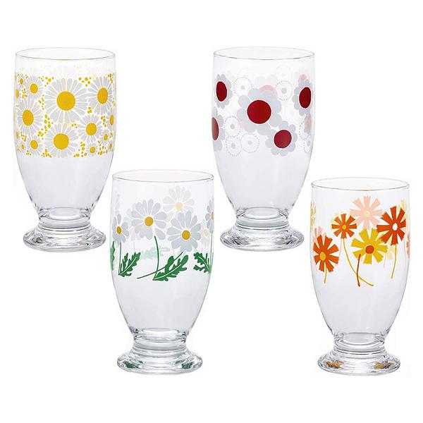 日本ADERIA 昭和復古花朵曲線高腳杯-共4款