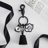 小狗狗鑰匙扣女正韓可愛公仔簡約高檔汽車鑰匙練包包掛飾情侶掛件免運