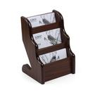 木質多層收納三層名片座辦公收納盒名片盒桌面名片架座創意辦公文具