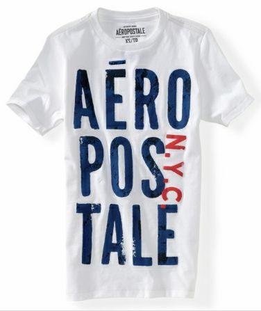 (BJGO) AERO_男裝_aero puff stacked graphic t 經典塗鴉圓領T恤 新品現貨S