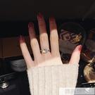 水晶潮人戒指女日韓網紅大氣個性學生Chic極簡冷淡風食指環  母親節特惠