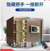 保險櫃家用小型辦公指紋密碼床頭櫃全鋼防盜入墻迷你保險箱CY『小淇嚴選』