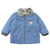 【愛的世界】毛領防風鋪棉外套/2~4歲-中國製- ★秋冬外套