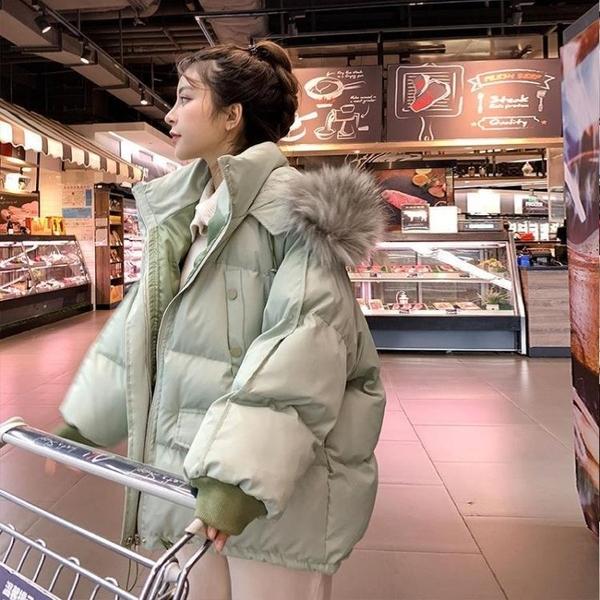 羽絨棉服 2021年新款冬季羽絨棉服女短款棉衣寬鬆面包服ins潮韓版棉襖學生 歐歐