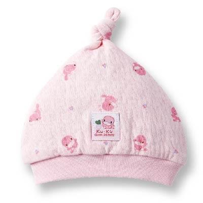 【奇買親子購物網】酷咕鴨KU.KU. 淘氣保暖嬰兒帽(藍色/粉色)
