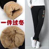 新款羊羔絨冬季運動褲女加絨加厚秋冬款褲子寬鬆休閒小腳衛褲  可然精品