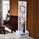 屏風餐廳屏風隔斷客廳簡約現代折屏折疊簡易行動雙面雕花空玄關座屏wy
