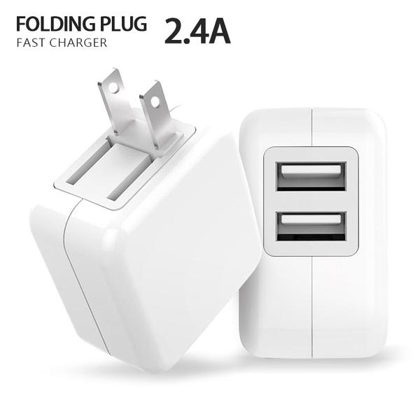 美福斯特 折疊雙孔USB插頭 BSMI認證充電頭 2.4A快速充電器 手機平板通用智能快速充電器