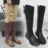 中筒靴 過膝靴女長筒靴秋冬靴女新款瘦瘦靴中筒靴長靴彈力靴高筒靴女 coco衣巷