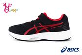 ASICS STORMER 2 運動鞋 男童 亞瑟士 透氣慢跑鞋 O7650#黑紅◆OSOME奧森童鞋