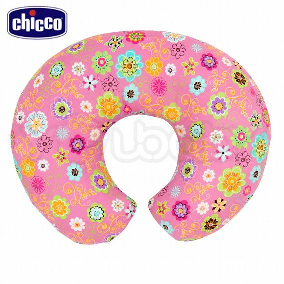 Chicco Boppy純棉多功能授乳枕 (粉紅花漾) /哺乳枕.媽媽枕.樂活枕.育嬰枕.靠墊