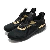 adidas 慢跑鞋 Alphabounce 1 黑 金 男鞋 舒適緩震 運動鞋 【ACS】 FZ2196