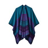 仿羊絨披肩-保暖細條紋經典包邊女圍巾5色73we45【巴黎精品】