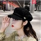 貝雷帽女韓版潮秋冬季帽子女八角帽英倫復古時尚網紅款百搭鴨舌帽 蘿莉新品