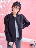 新品2%   魅力商品-拉鍊口袋夾克外套-黑 AW