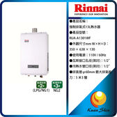 Rinnai林內 RUA-A1301WF 強制排氣型13L熱水器