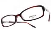 LOEWE 光學眼鏡 VLW837K 954 (深紅) 簍空LOGO方框款 # 金橘眼鏡