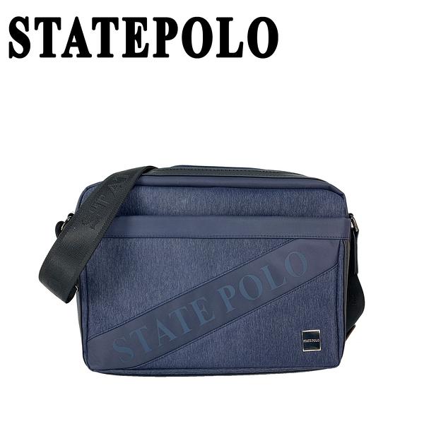 STATE POLO 斜條紋LOGO設計側背包 NO:1803