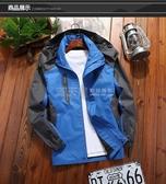 秋季戶外運動登山服情侶單層沖鋒衣男女加絨加厚夾克薄款防風外套 滿天星