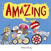 【麥克書店】AMAZING /英文繪本《主題:友誼.想像》作家:Steve Antony