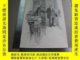 二手書博民逛書店【百罕見】1895年木刻版畫《ein fetter kunde 》(胖顧客) 尺寸見圖( 603056)Y22