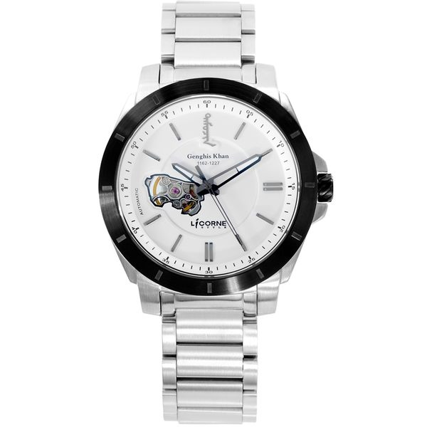 【LICORNE 力抗錶】 鐵木真系列限量自動錶 (白 LI080MTWI)