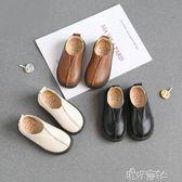 春季男童英倫風皮鞋一腳登軟底單鞋 寶寶豆豆鞋 中小童鞋