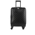 【CHANEL】TROLLEY 菱格紋荔枝牛皮行李箱(黑色) CH77000002